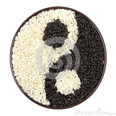 Schwarzweiss-Reis
