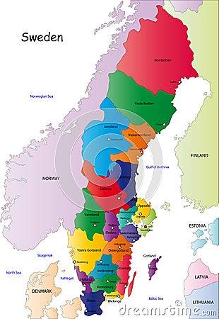schweden karte