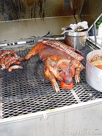 Schwein auf Grill