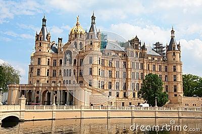 Schwerin castle in the city of Schwerin
