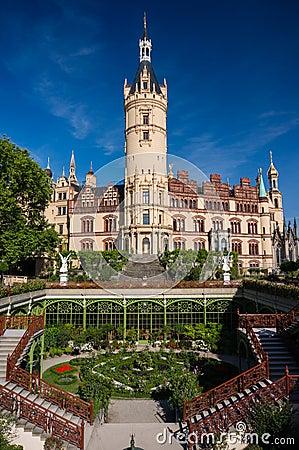 Schwerin castle and garden