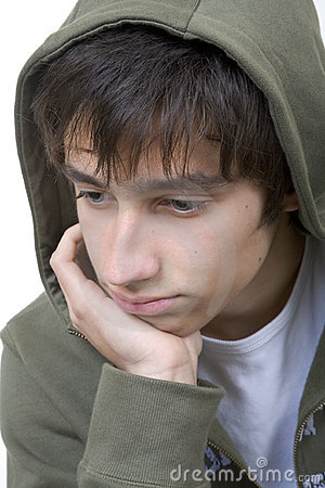 Schwermütiger Jugendlicher
