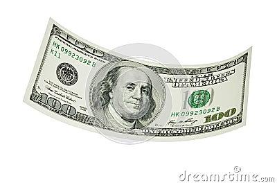 Schwimmen hundert Dollarschein