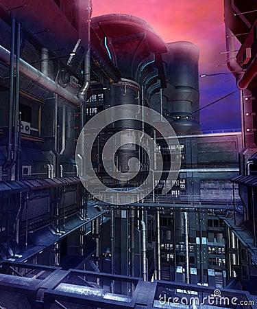 Sci-fi city 1