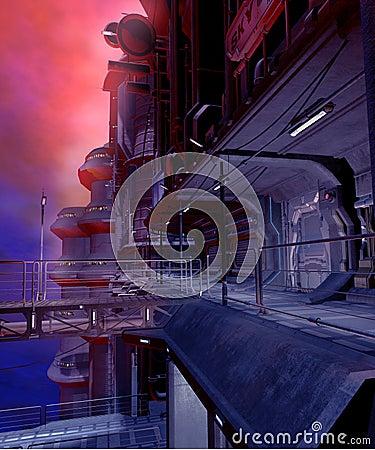 Sci-fi city 2