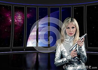 Sci fi interior ship