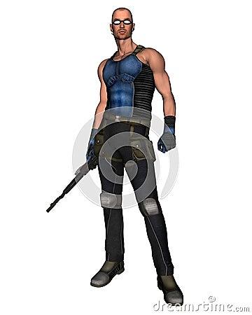 Sci-Fi Mercenary - 1