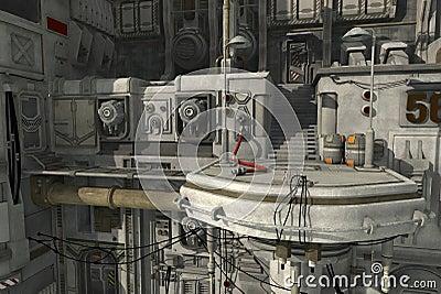 Sci Fi Platform Royalty Free Stock Photo Image 26997635