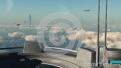Sci-fi scene - Station 45