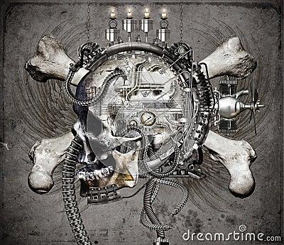 Sci Fi skulls and crossbones