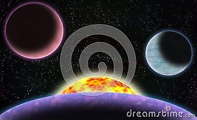 Sci-Fi Space Scene