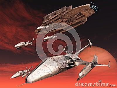 Sci-fi spacecraft