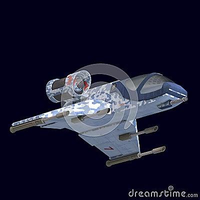 Sci fi spaceship in universe