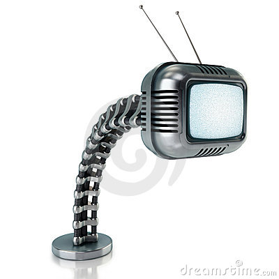 Sci-fi tv in retro style
