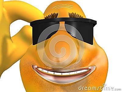 Sciatore sorridente felice