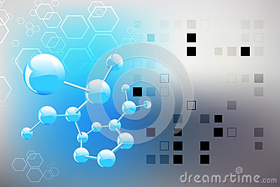 Science background, molecule