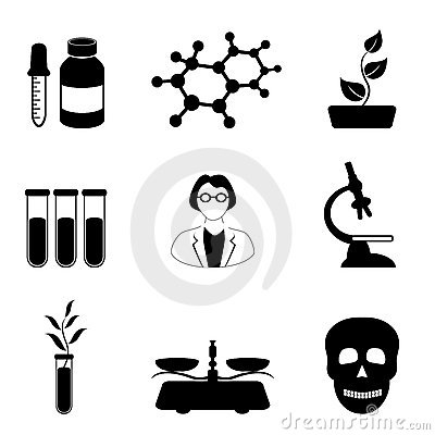 Science, biology and chemistry icon set