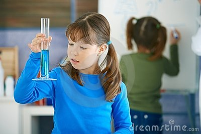 Science class at primary school