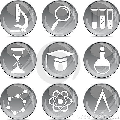 Science and education icons in vector