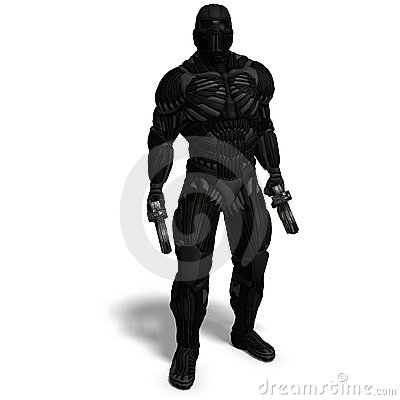 Free Science Fiction Male Character In Futuristic Suit Royalty Free Stock Images - 15107649