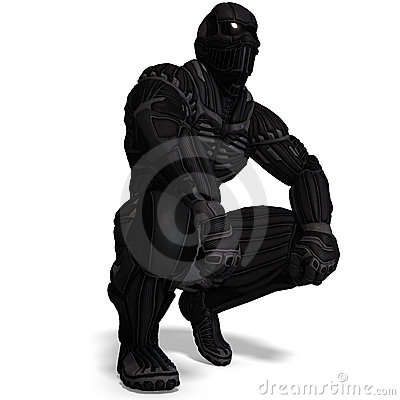 Free Science Fiction Male Character In Futuristic Suit Royalty Free Stock Image - 15119196