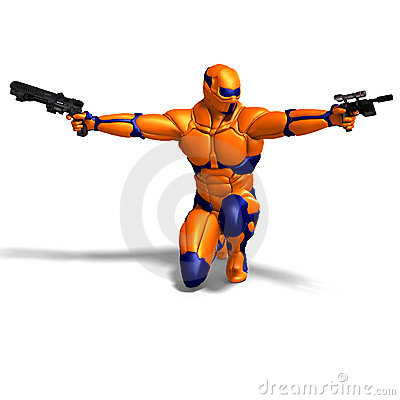 Free Science Fiction Male Character In Futuristic Suit Royalty Free Stock Image - 15270356