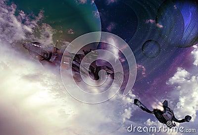Science fiction skies