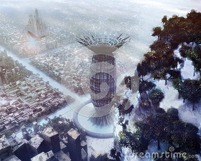 Science Fiction Winter City