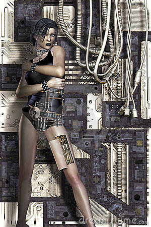 Science fiction woman