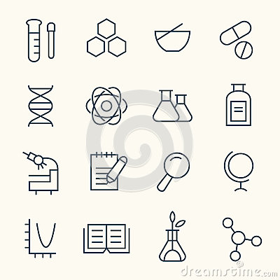 Science icon set Vector Illustration