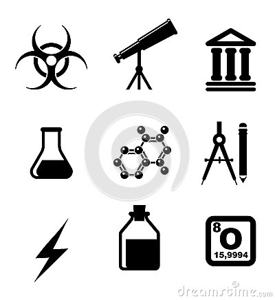 Science icons and symbols