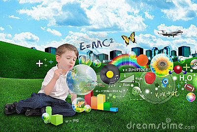 Science, Math, Art and Music Bubble Boy