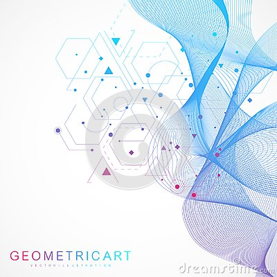 Free Science Network Pattern, Connecting Lines And Dots. Modern Futuristic Virtual Abstract Background Molecule Structure For Royalty Free Stock Photos - 115885218