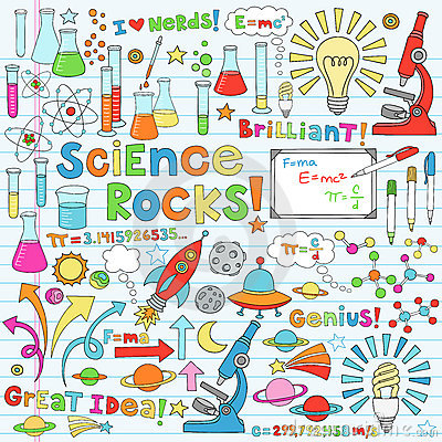 Free Science Notebook Doodles Stock Image - 22658021