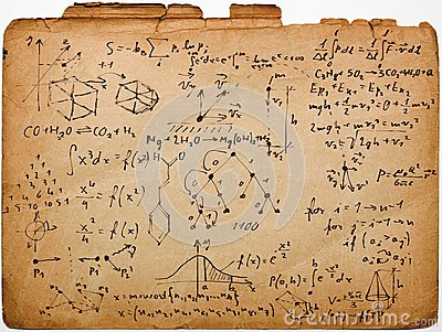 Science on old paper