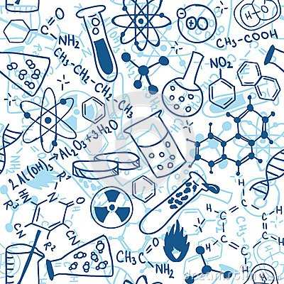 Free Science Seamless Pattern Royalty Free Stock Photo - 28819835