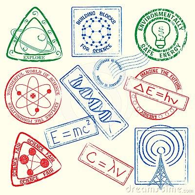 Science Stamps Icon Set