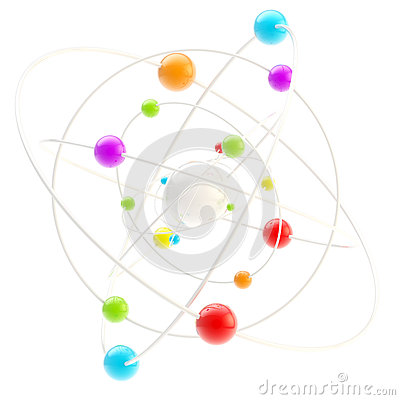 Free Science Symbol As A Complex Molectule Royalty Free Stock Image - 24684056