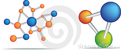 Science symbol of cells