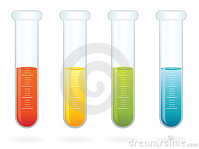 Science Test Tubes EPS