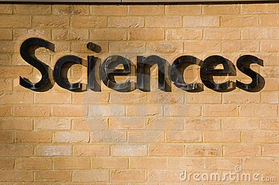 Sciences sign on a brick wall