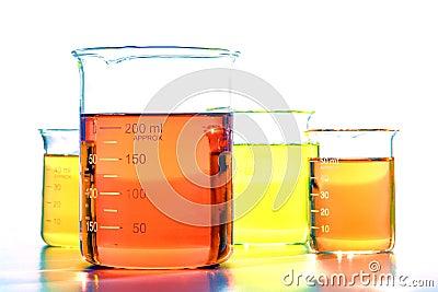 Scientific Beakers in Science Research Lab