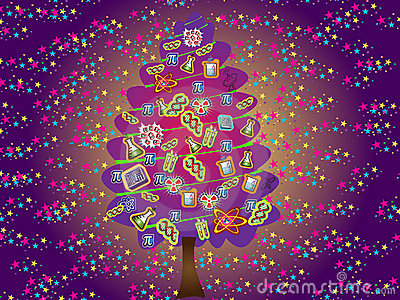 Scientific christmas tree