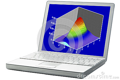 Scientific graph on a laptop