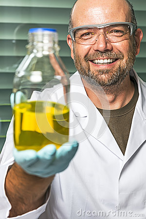 Scientific laboratory presents liquid