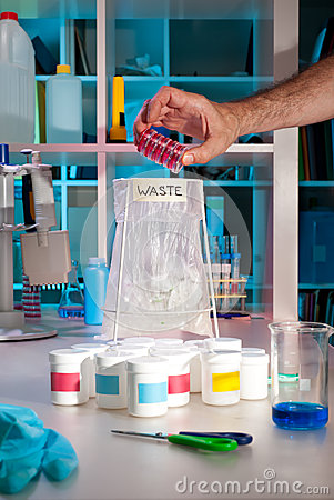 Scientific waste in modern lab