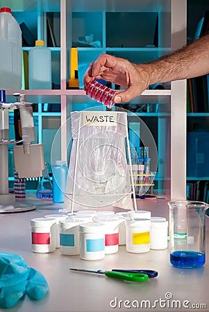 Scientific waste in modern lab