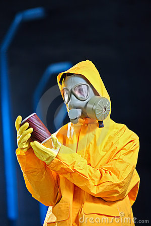 Scientist in a chemical plant