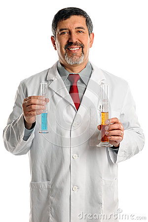 Scientist With Chemicals