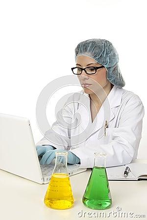 Scientist computer data